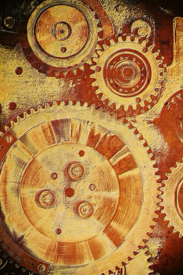 Download Gears from old mechanism stock photo. Image of flow, part - 5363688