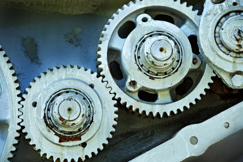 Gears from old mechine. Cog and gears from old mechine royalty free stock photo