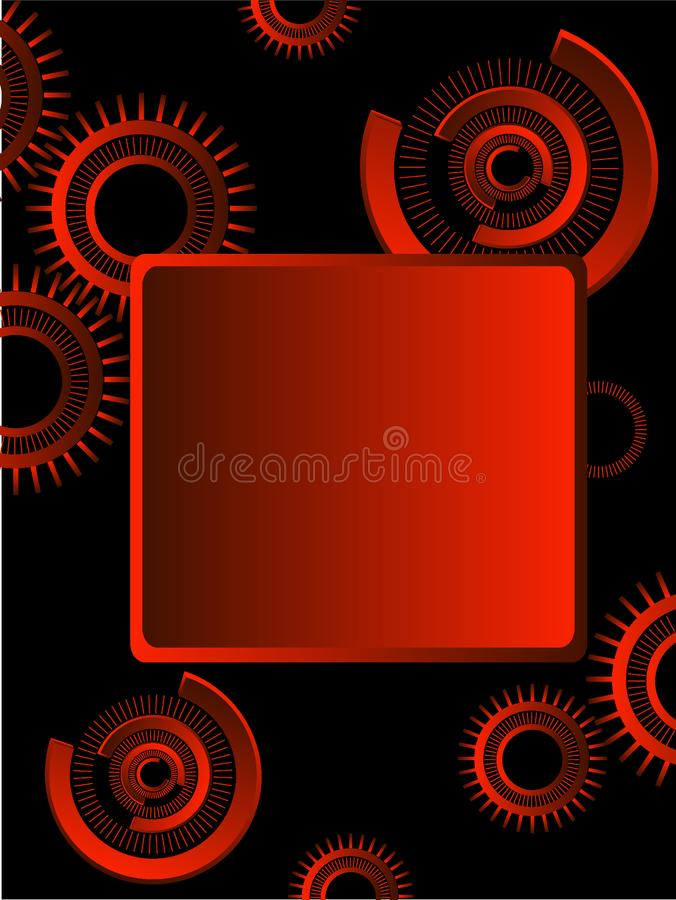 Download Gears Over Black Background Stock Vector - Illustration: 7804961