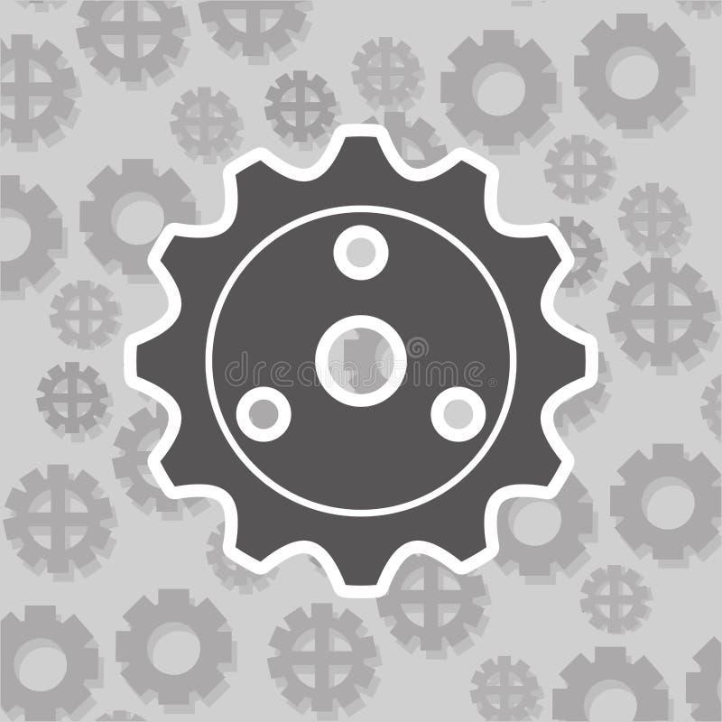 Gears and pattern background image. Illustration design stock illustration