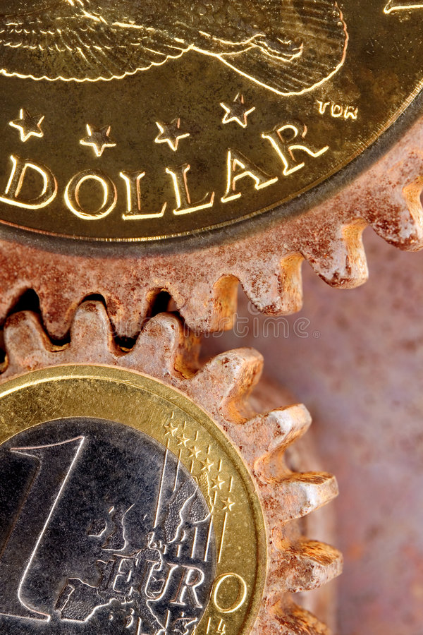 gears pengar royaltyfria foton