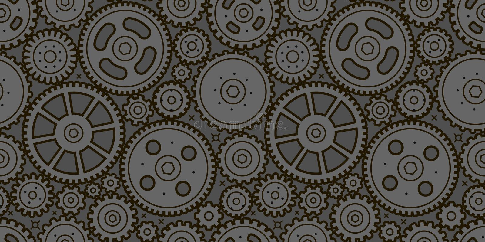 Gears seamless background. Business, industry, technology concept. Vector. Gears seamless background. Business, industry technology concept royalty free illustration