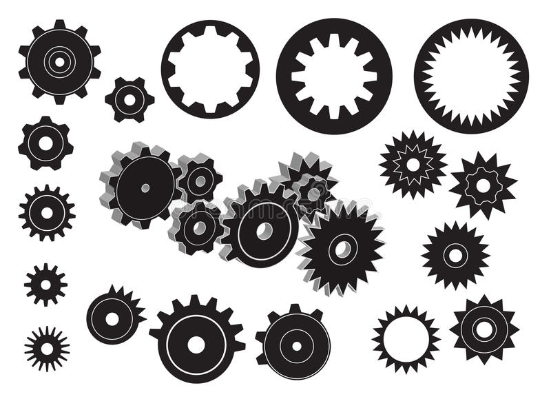 Gears. A set of gears royalty free illustration