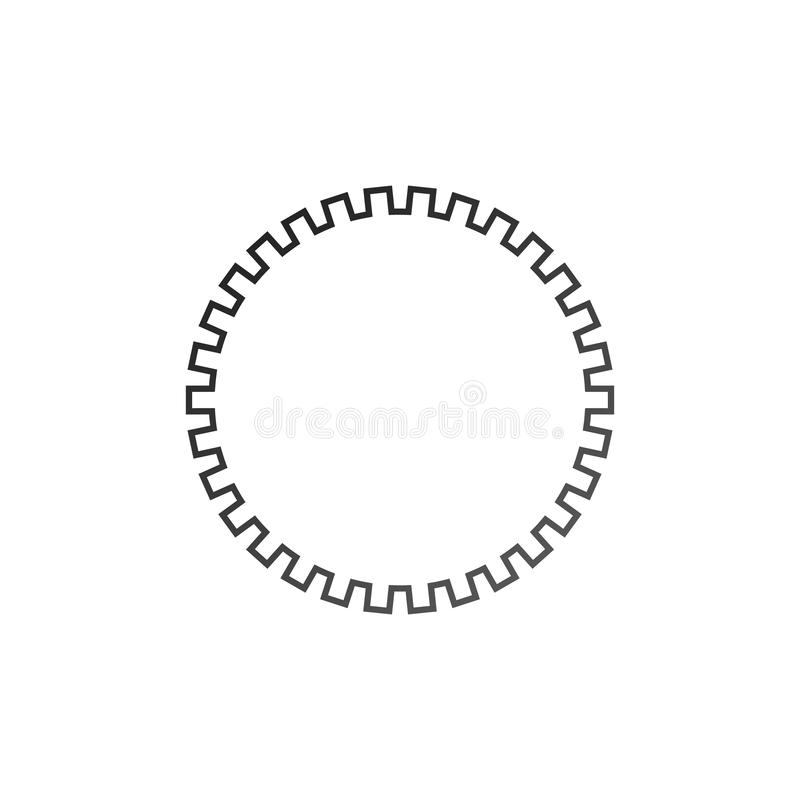 Gears settings icon. Cogwheel gear mechanism. Vector illustration isolated on white background royalty free illustration