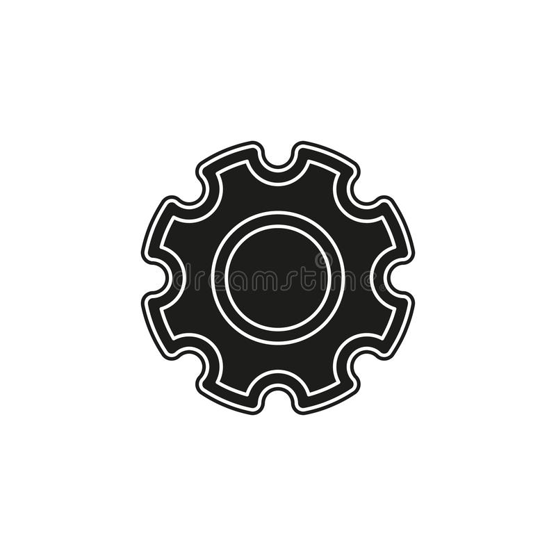 Gears settings icon - Cogwheel gear mechanism vector settings vector icon royalty free illustration