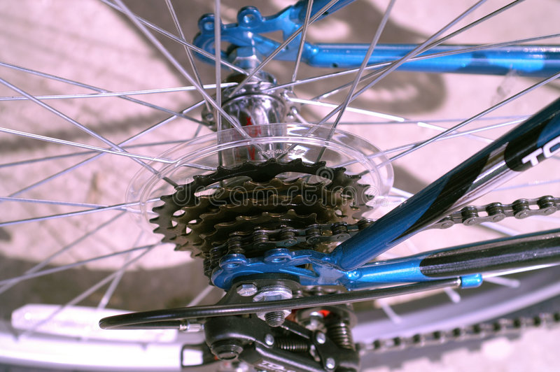 Gears and spokes royalty free stock photo