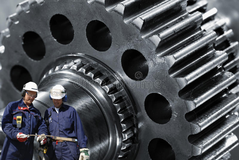 gears stålarbetare royaltyfri fotografi