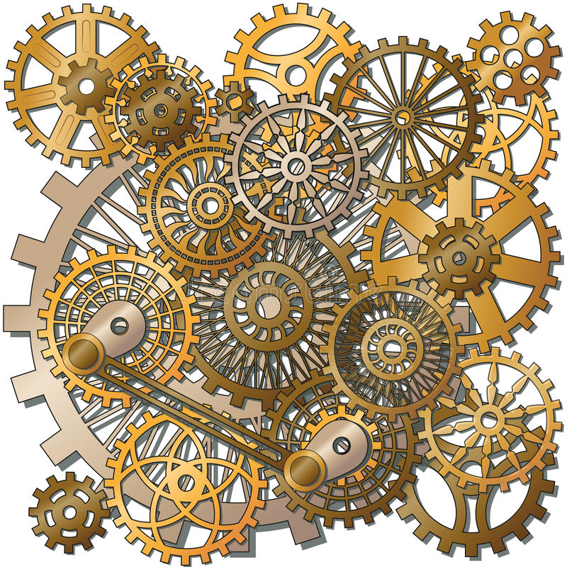 The gears vector illustration
