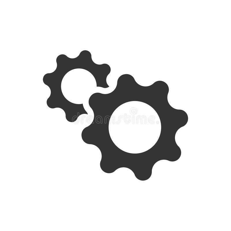 gears symbolen royaltyfri illustrationer