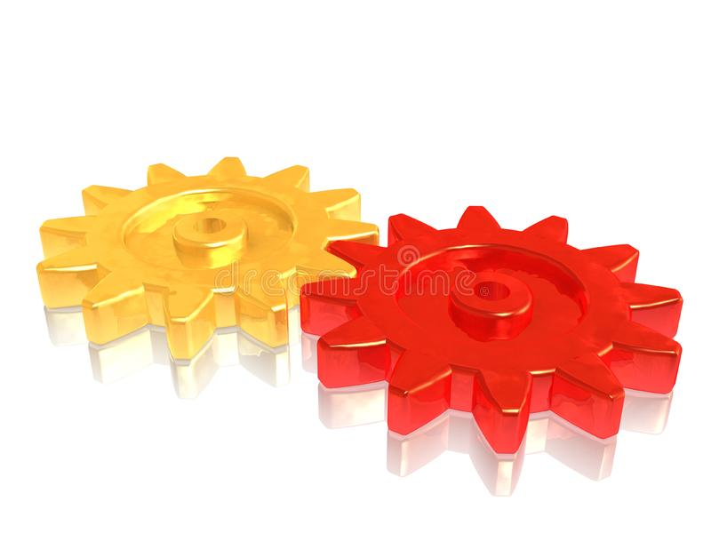 Gears On Teamwork Stock Image
