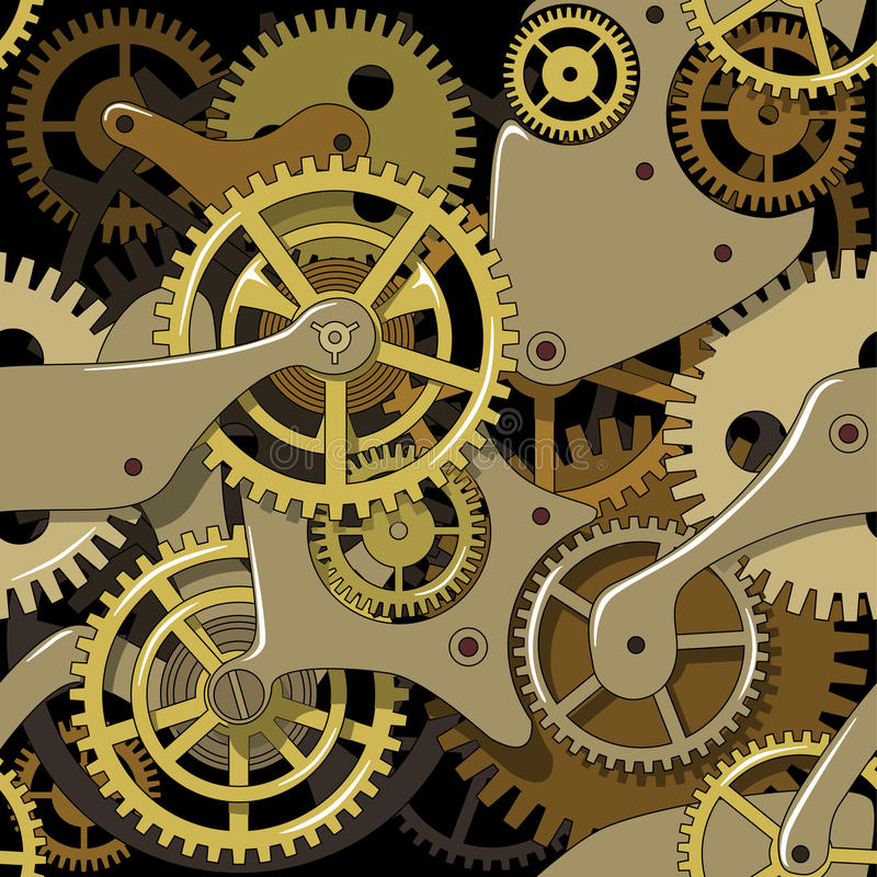 Gears Texture In The Style Of Steam Punk Stock Vector