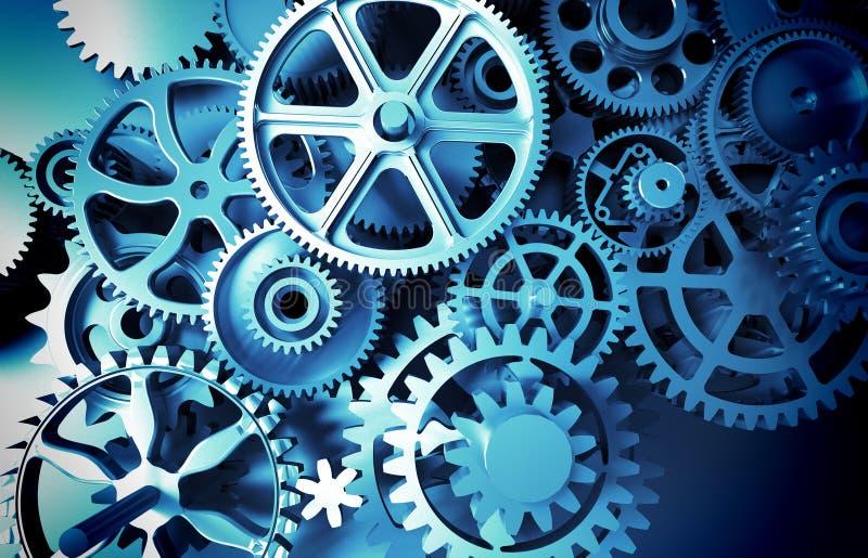 interlocking industrial metal gears toothed wheel royalty free illustration