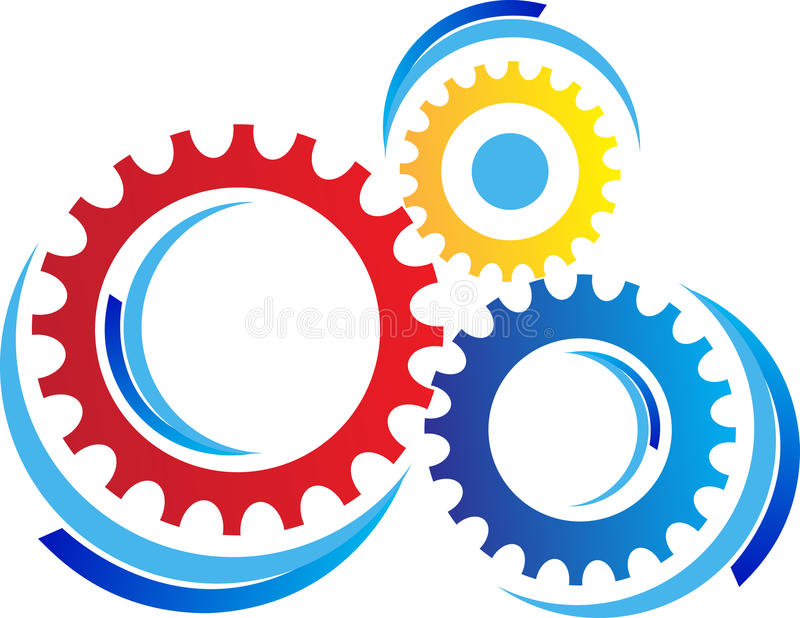 Gears. A vector drawing represents gears design