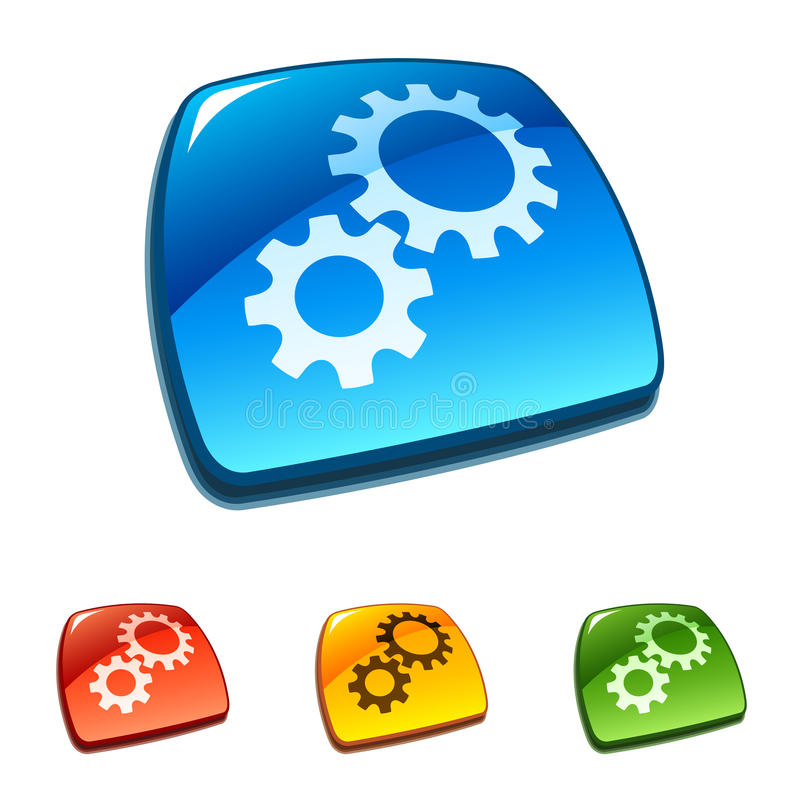 Gears. Vector icon stock illustration