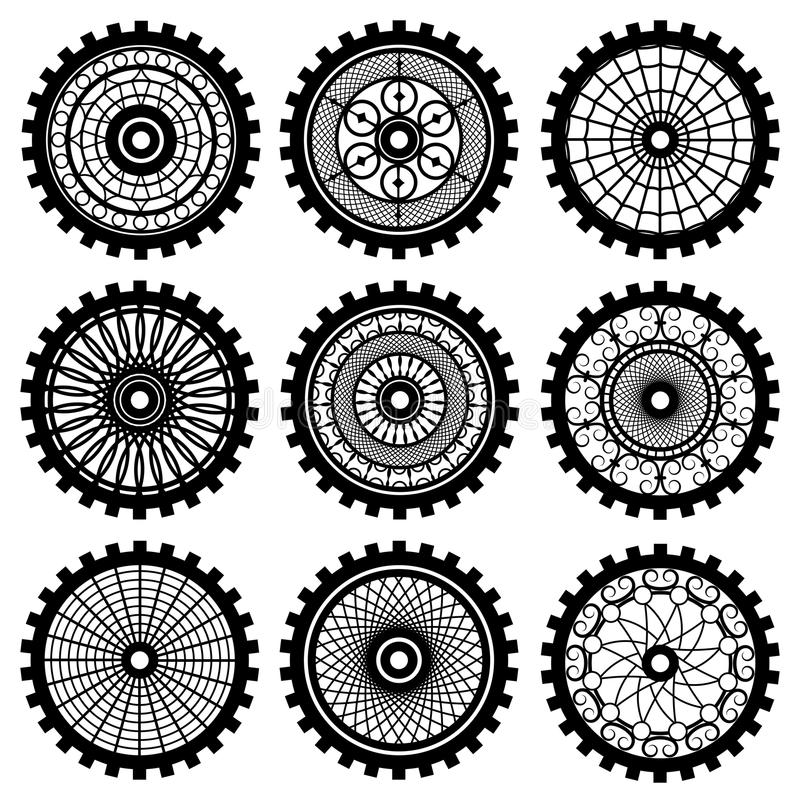 The gears stock vector. Illustration of abstract, icon ...