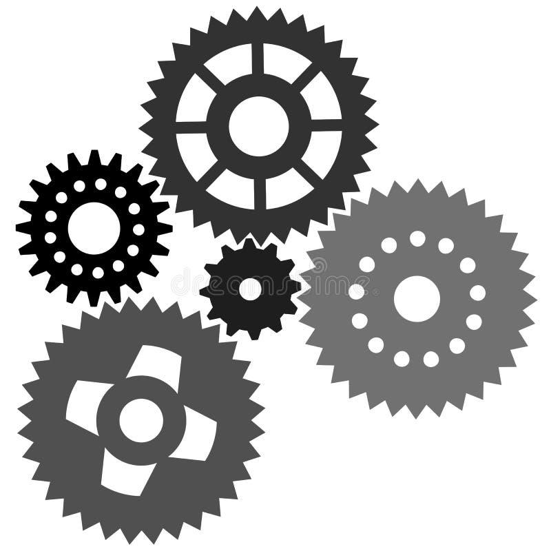 gears vektorn stock illustrationer