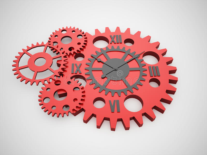 Gears, Watch Inside Concept Rendered Stock Illustration