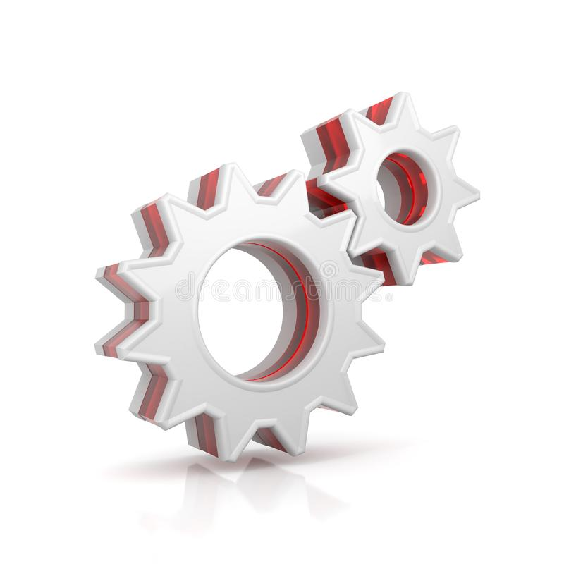 Gears web icon royalty free illustration