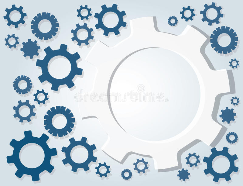 Gears wheel and space background. EPS10 vector illustration
