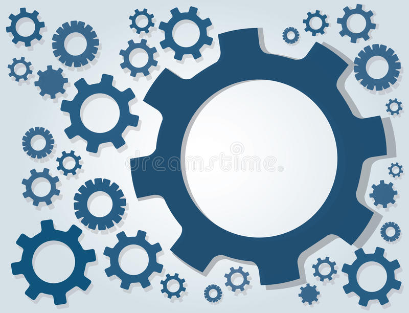 Gears wheel and space background. EPS10 stock illustration