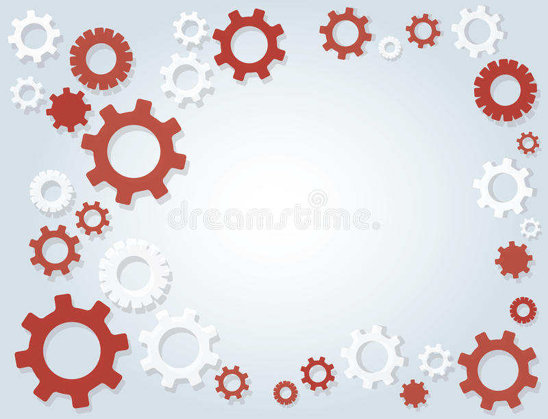 Gears wheel and space background. EPS10 royalty free illustration