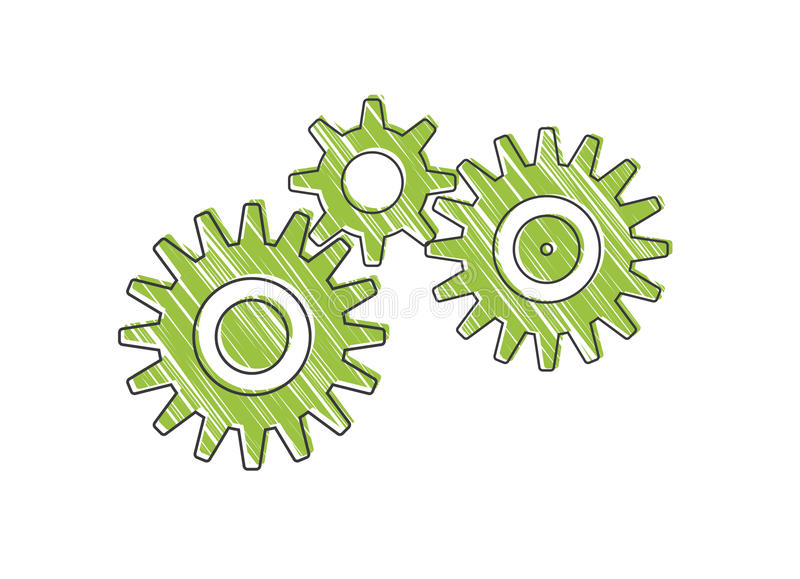 Gears. Working together. Can symbolize how teammembers work together in a team stock illustration