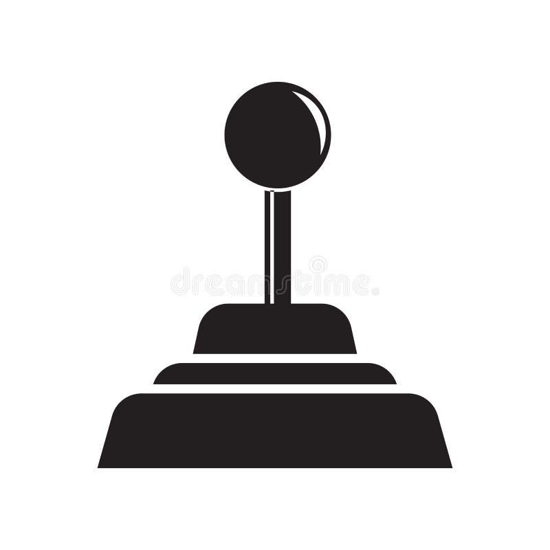 Gearshift ikony wektoru znak i symbol odizolowywający na białym tle, Gearshift logo pojęcie royalty ilustracja