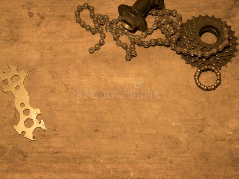 Gearwheel με την αλυσίδα στοκ φωτογραφίες