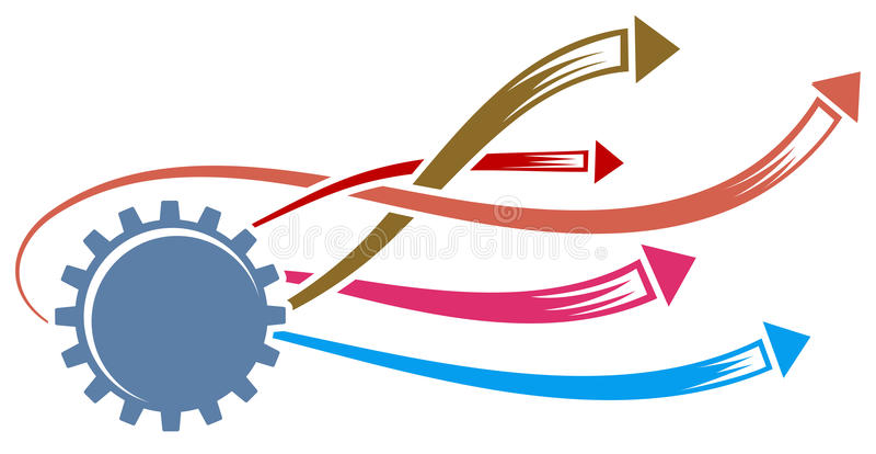 gearwheel стрелок иллюстрация штока