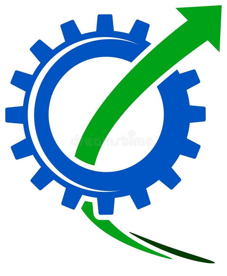 Gearwheel с стрелкой иллюстрация штока