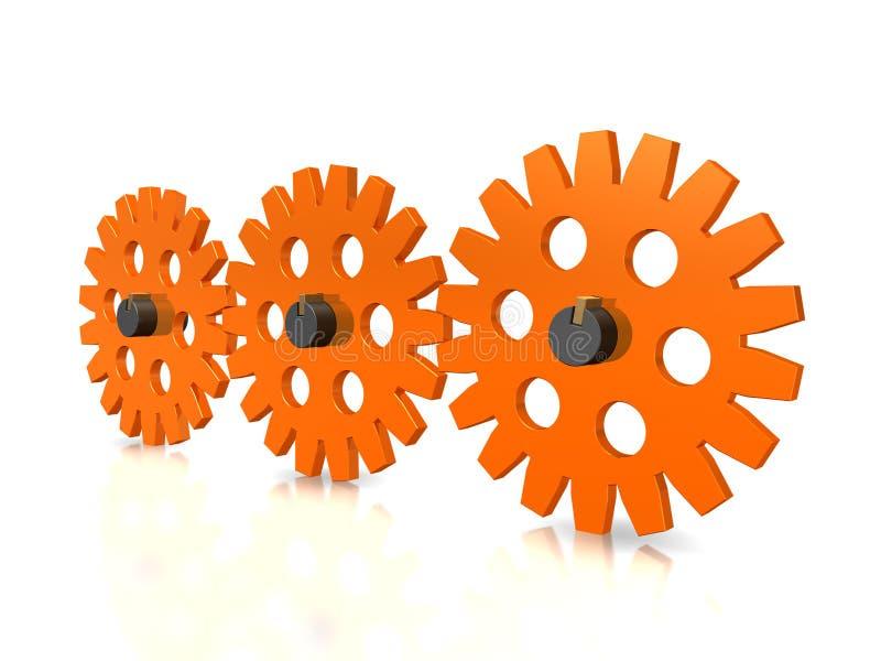 Gearwheel stock illustration