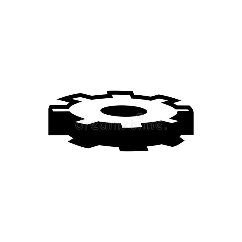 Gearwheel, przek?adnia wektoru ikona royalty ilustracja