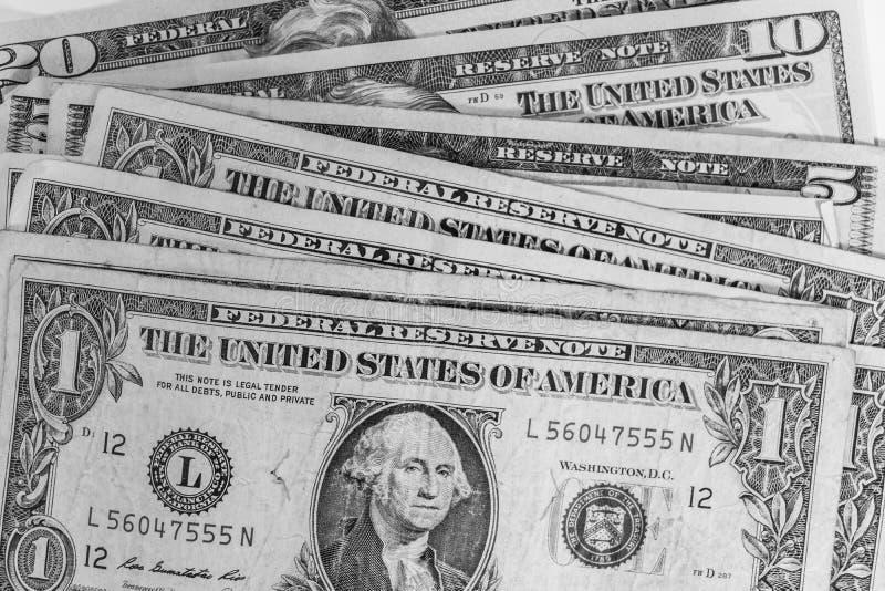 Geassorteerd Amerikaans Contant geld royalty-vrije stock foto