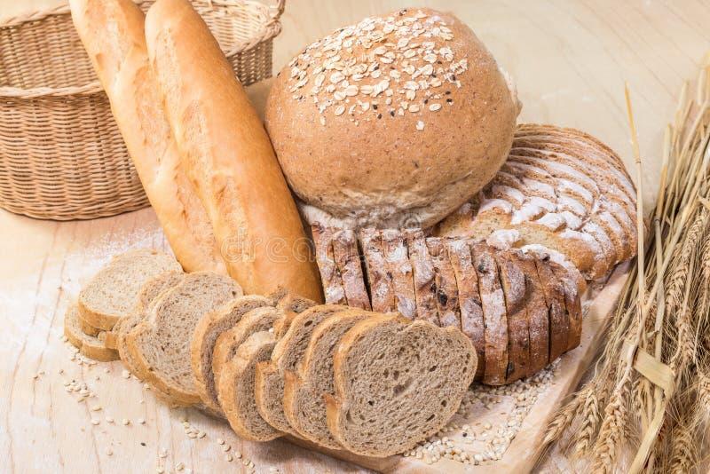 Geassorteerd brood en gebakje stock fotografie