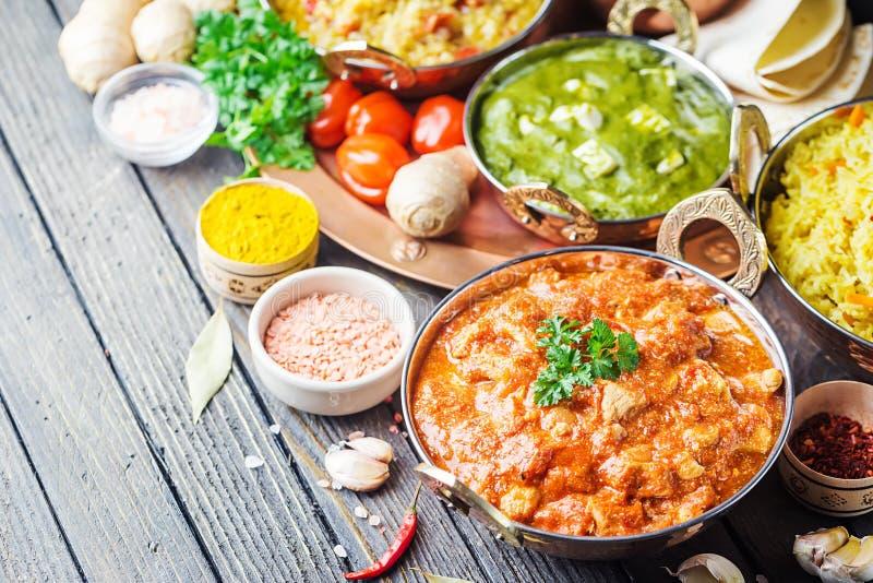 Geassorteerd Indisch voedsel royalty-vrije stock afbeelding