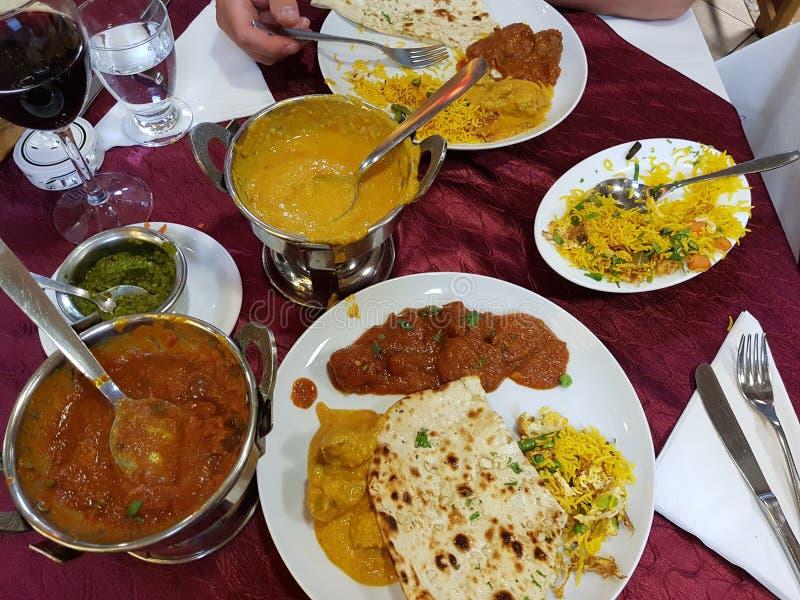 Geassorteerd Indisch voedsel stock foto's