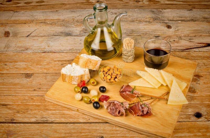 Geassorteerd Spaans vingervoedsel stock afbeelding