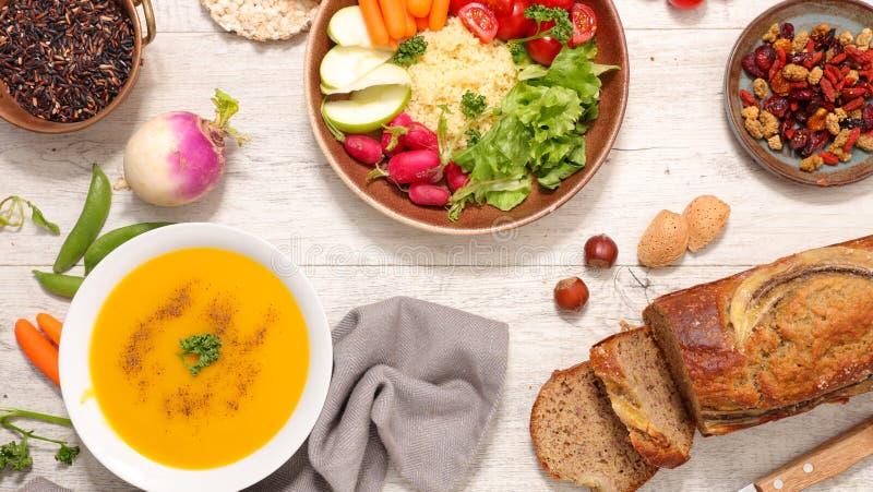 Geassorteerd veganistvoedsel royalty-vrije stock fotografie