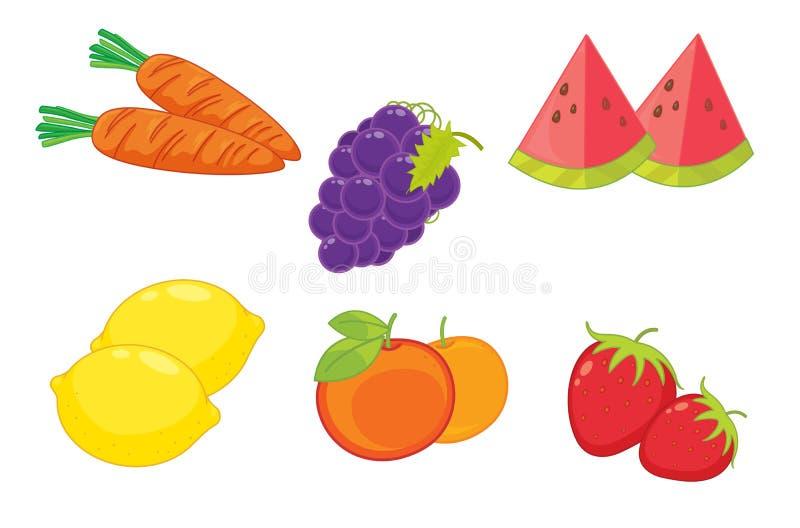 Geassorteerd voedsel vector illustratie