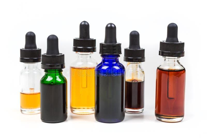Geassorteerde aroma's van vapesap stock foto's