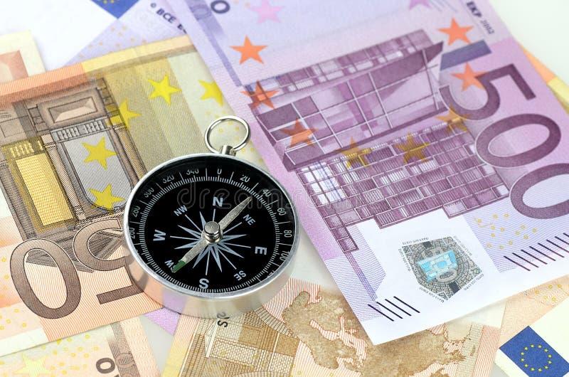 Geassorteerde benamingen van Euro rekeningen met a stock afbeelding