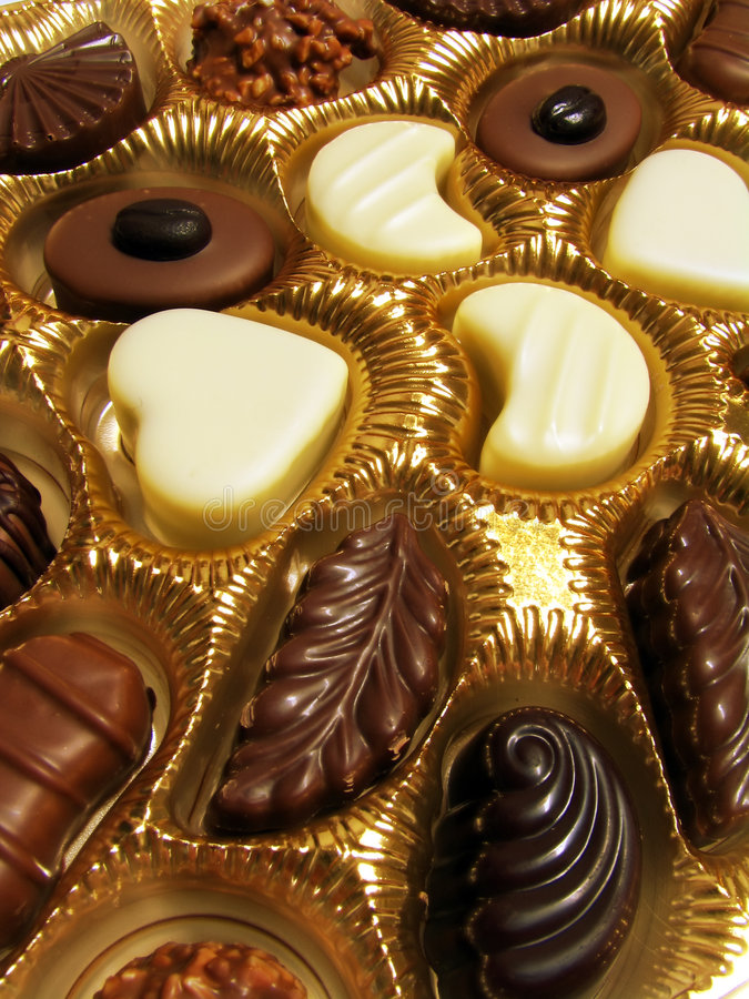 Geassorteerde chocolade royalty-vrije stock fotografie