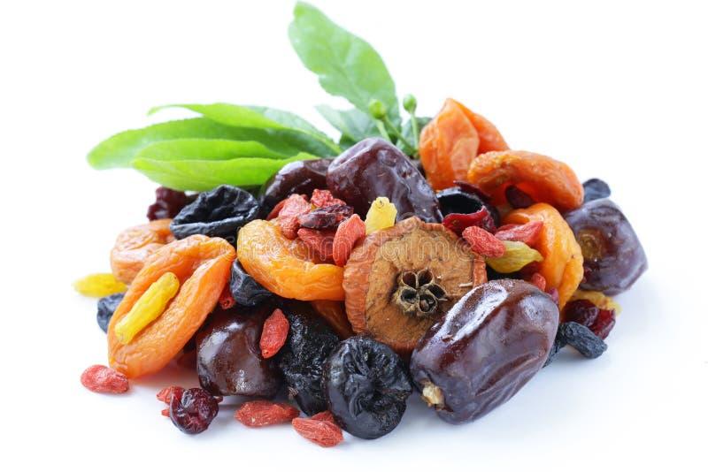 Geassorteerde droge vruchten stock afbeelding