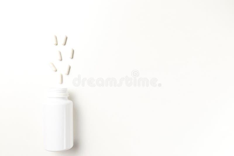 Geassorteerde farmaceutische geneeskundepillen royalty-vrije stock foto