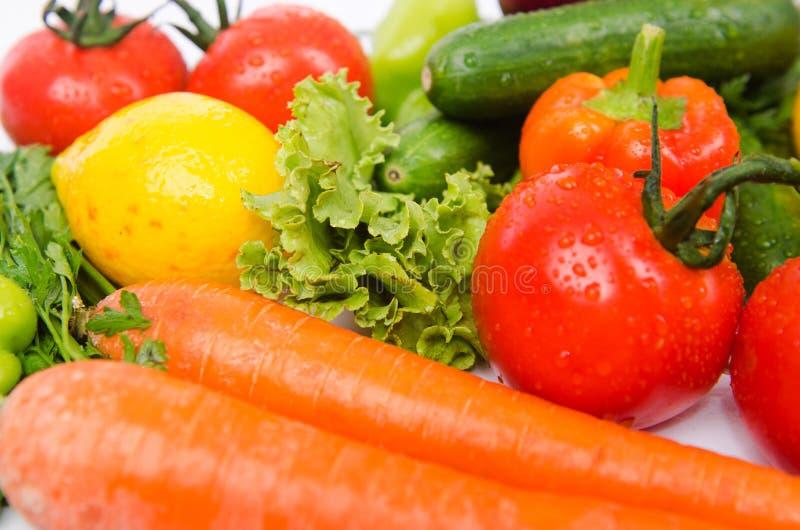Geassorteerde Groenten op Wit stock fotografie