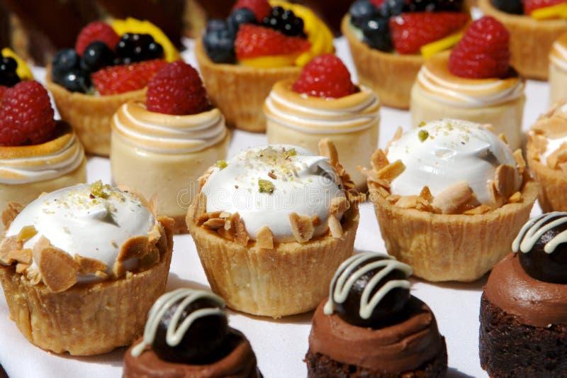 Geassorteerde het Dienblad van het dessert royalty-vrije stock afbeeldingen