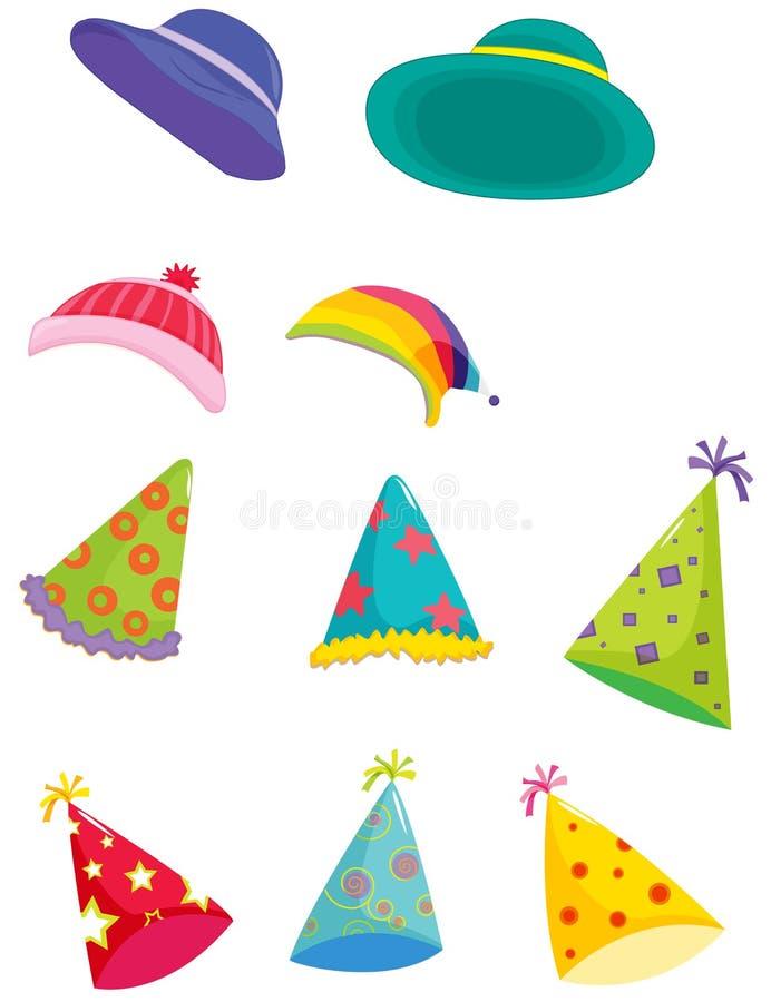 Geassorteerde hoeden stock illustratie