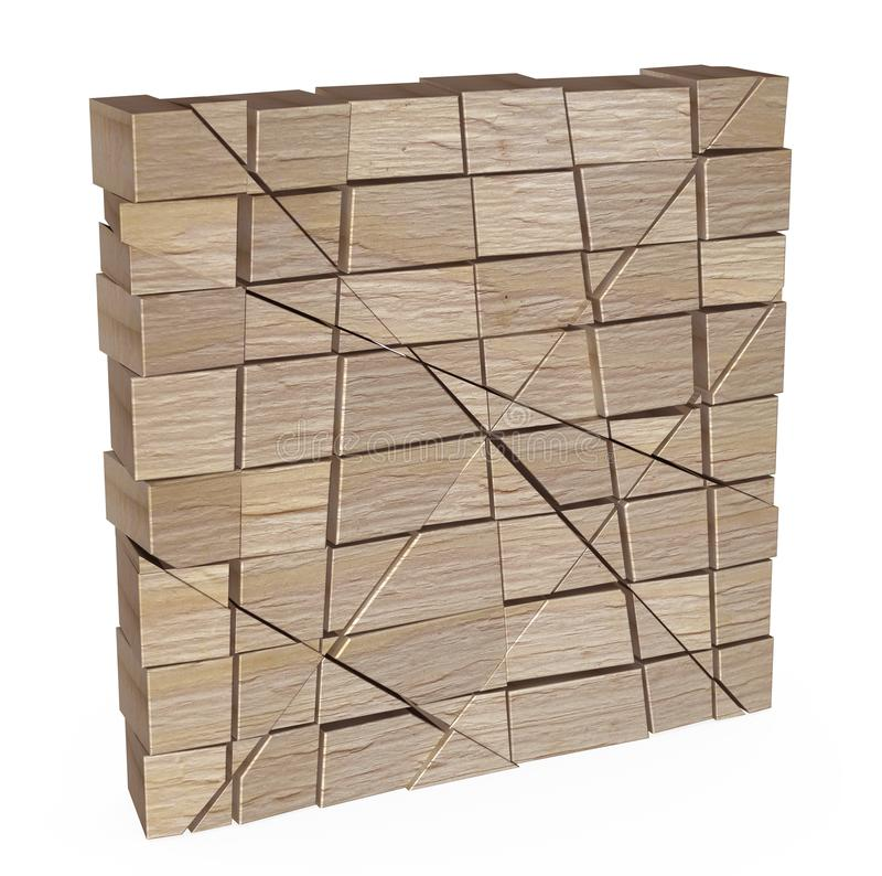 Geassorteerde houten stuk speelgoed blokken stock illustratie