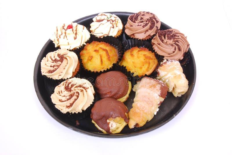 Geassorteerde kopcakes stock foto