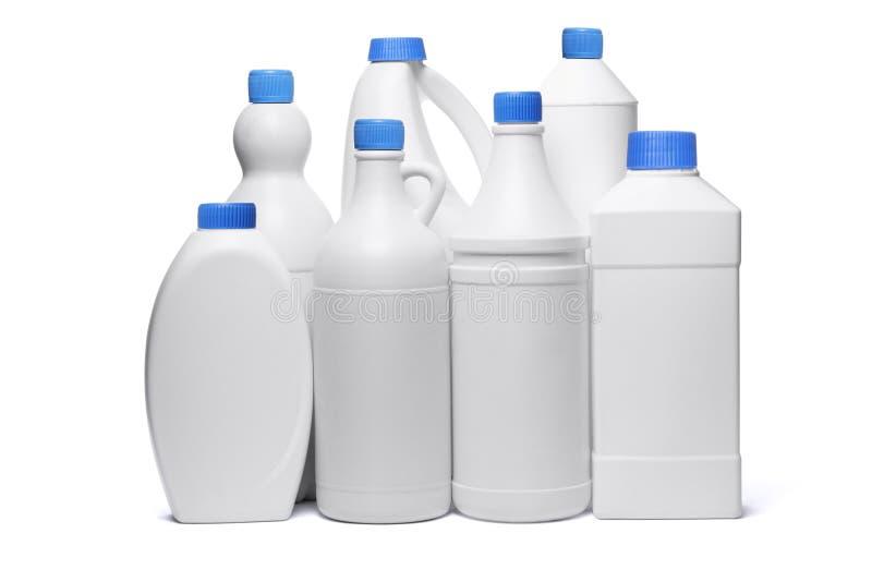 Geassorteerde plastic containers royalty-vrije stock afbeelding
